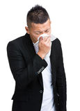 Man sneeze Stock Photo