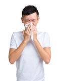 Man sneeze Stock Images