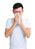 Man sneezing Royalty Free Stock Photography
