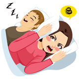 Man Snoring Noise Royalty Free Stock Image
