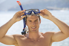 A man snorkeling Royalty Free Stock Photo