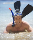 A man snorkeling Stock Images