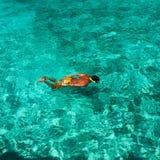 Man snorkeling Stock Images
