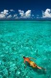 Man snorkeling Stock Photo