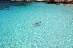 Man snorkeling Stock Photography