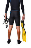 Man with snorkeling equipment isolated Stock Images