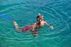 Man snorkeling at Phi Phi Island, Phuket, Thailand Royalty Free Stock Photography