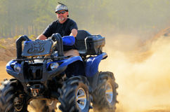 Snorkled ATV 4 Wheeler Big Tires Dusty Stock Photo