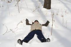 Man in snow Stock Photos