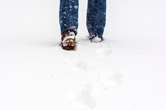 Man on snow Stock Images
