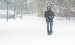 Man on snow Stock Photography