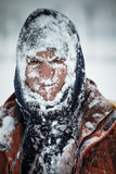 Man in snow Royalty Free Stock Image