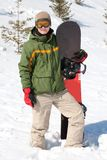 Man with snowboard Stock Photography