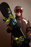 Man with snowboard Royalty Free Stock Photos