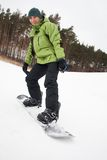 Man with snowboard Stock Photos