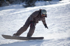 Man snowboarder Royalty Free Stock Image