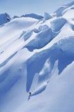 Man Snowboarding On Steep Slope Royalty Free Stock Photo