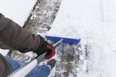 Snow Shovelling Royalty Free Stock Photo