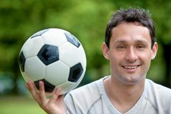 Man with a soccer ball Royalty Free Stock Images