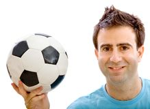 Man with a soccer ball Stock Image