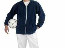 Man with soccer ball Royalty Free Stock Image