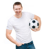 Man with a soccer ball Royalty Free Stock Photos