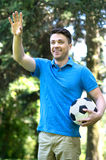 Man with soccer ball. Stock Images