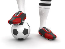 Man with a soccer ball (clipping path included) Stock Photography