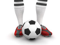 Man with a soccer ball (clipping path included) Royalty Free Stock Photo