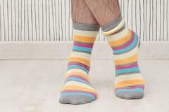 Man in socks Royalty Free Stock Photo