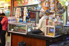 A man sold paan at juhu beach Stock Images