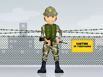 Man soldier military Royalty Free Stock Image