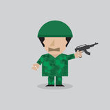 Man In A Soldier Uniform Royalty Free Stock Photography
