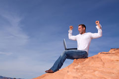Man with solution Royalty Free Stock Images