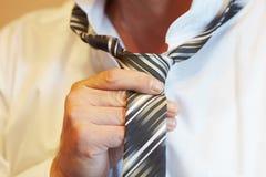 Band av en tie Fotografering för Bildbyråer