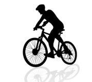 Man som cyklar vektorn stock illustrationer