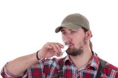 Man som dricker konjak Royaltyfri Foto