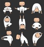 Man som gör den yogaAsana samlingen royaltyfri illustrationer