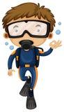 Man som gör dykapparatdykning Arkivfoton