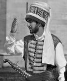 Man som kläs som en ottoman Arkivbild