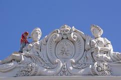 Man som målar historisk byggnad i Merida Mexico Royaltyfri Bild