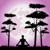 man som mediterar Royaltyfri Bild