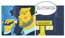 Man som röker e-ciggarette Arkivbilder