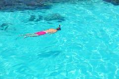 Man som snorkeling Royaltyfri Bild