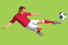Man som spelar fotboll Arkivbilder