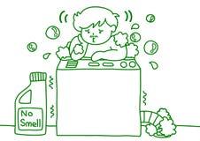 Man som tvättar sig Royaltyfri Foto