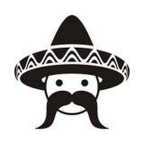 Man with sombrero royalty free illustration