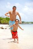 Man and son at vacations Stock Images
