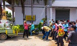 Man Songkran water fights. Stock Image