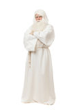 Man in sorcerer costume. On white background Stock Photography